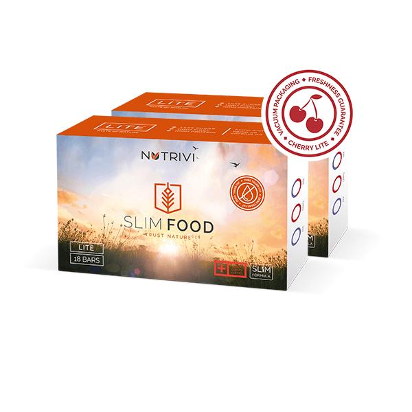 Slim Food Lite Cherry 18 tyčinek exp. 26.2.2020 WellU Sp. z o.o.