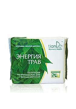 Denní menstruační vložky Energie bylin 8 ks Woman´s Health/tianDe