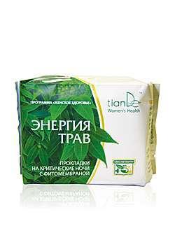 Noční menstruační vložky Energie bylin 8 ks Woman´s Health/tianDe