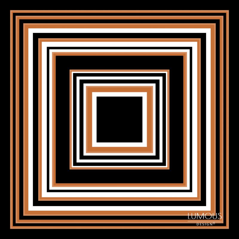 Cubic - hnědá LUMOUS design