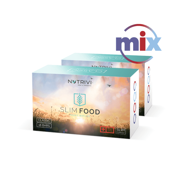 Slim Food Classic Mix 2x18 tyčinek WellU Sp. z o.o.
