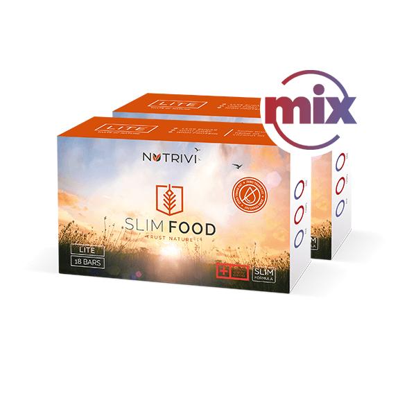Slim Food Lite Mix 2x18 tyčinek WellU Sp. z o.o.